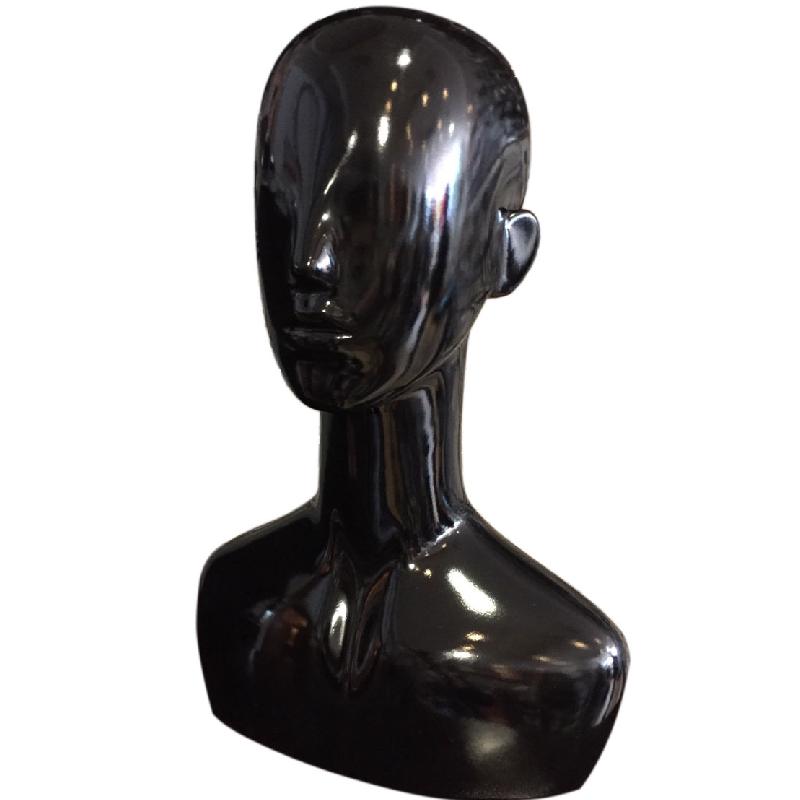 Κεφάλι Γυναικείο Μαύρο Γυαλιστερό